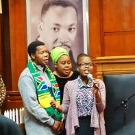Singing Nkosi Sikelel' iAfrika