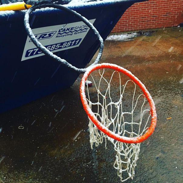 Hoop trashed 2016 basketball garbage hoop present tensed - Basketball hoop garbage can ...